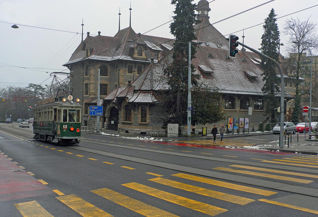 """фото """"Старый трамвай"""" метки: город, техника, Женева"""