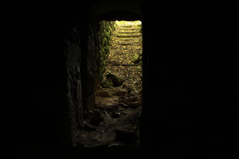 """photo """"Выход есть"""" tags: misc., light, подвал, старые, ступеньки, темнота"""