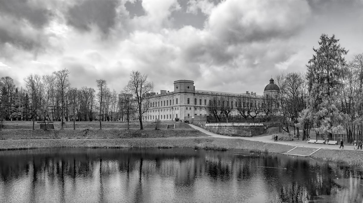"""фото """"Гатчинский парк"""" метки: черно-белые,"""