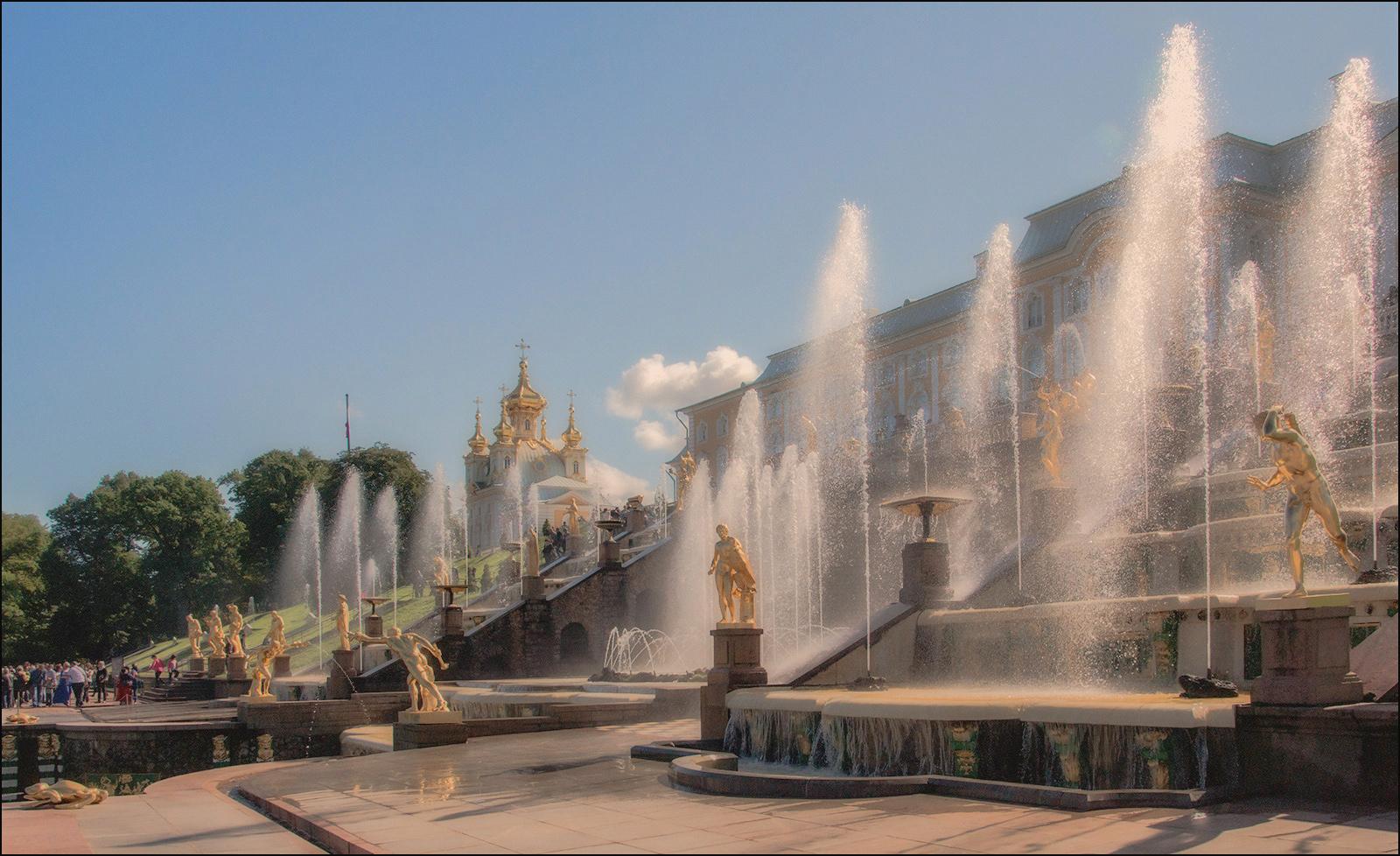 "photo ""Grand Cascade"" tags: travel, fountains, summer, Петродворец"