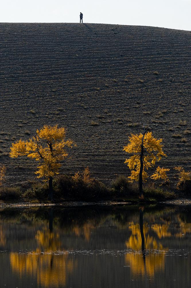 "photo ""***"" tags: landscape, nature, autumn, lake, minolta 70-210, Алтай, Красногорское, отражение"