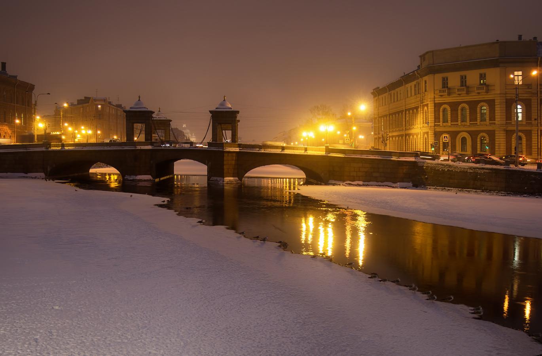 "photo ""***"" tags: landscape, evening, winter, Петербург"