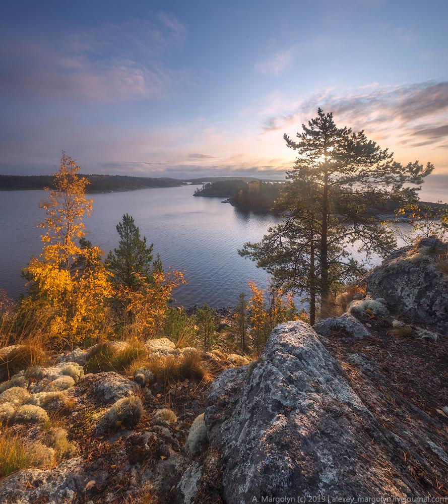 """фото """"***"""" метки: пейзаж, путешествия, природа, Карелия, Ладога, осень, шхеры"""