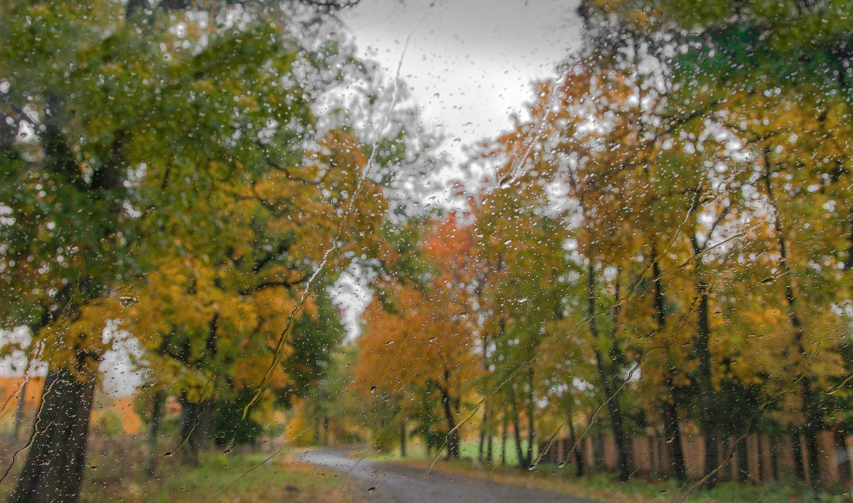 "photo ""***"" tags: street, abstract, nature, autumn, rain, капли, стекло автомобиля"