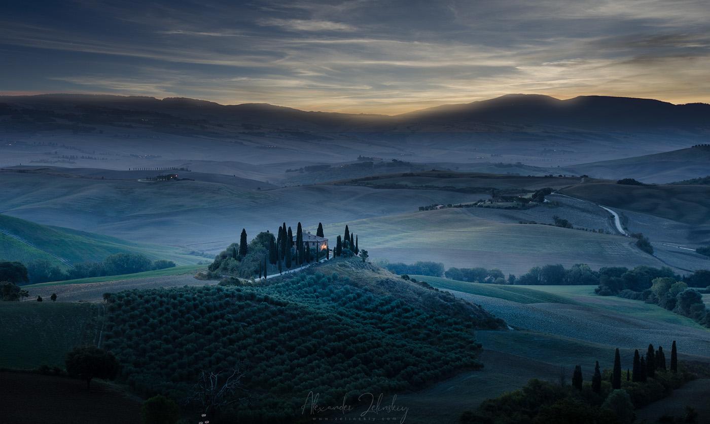 """photo """"Воспоминание о Тоскане"""" tags: montage, landscape, travel, Тоскана"""