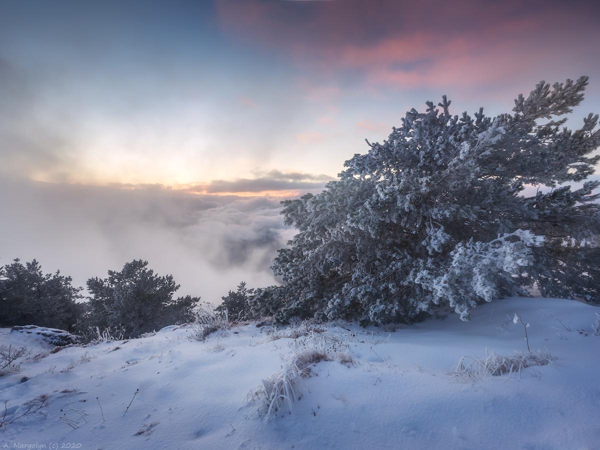"photo ""***"" tags: landscape, nature, travel, Crimea, sunset, winter, демерджи"