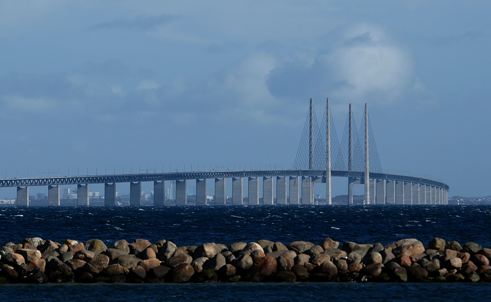 "photo ""The Öresund Bridge"" tags: landscape, architecture, reporting, bridge, oresund bridge"