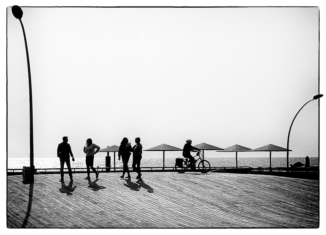"photo ""Winter in the Mediterranean ..."" tags: travel, street, black&white,"