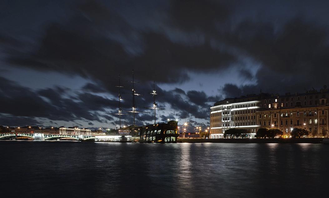 "photo ""***"" tags: panoramic, travel, city, evening, Санкт Петербург"