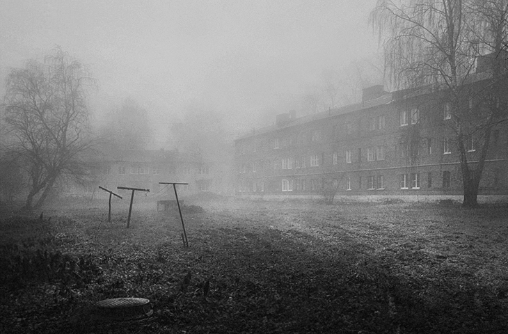 "photo ""***"" tags: city, black&white, misc., fog"