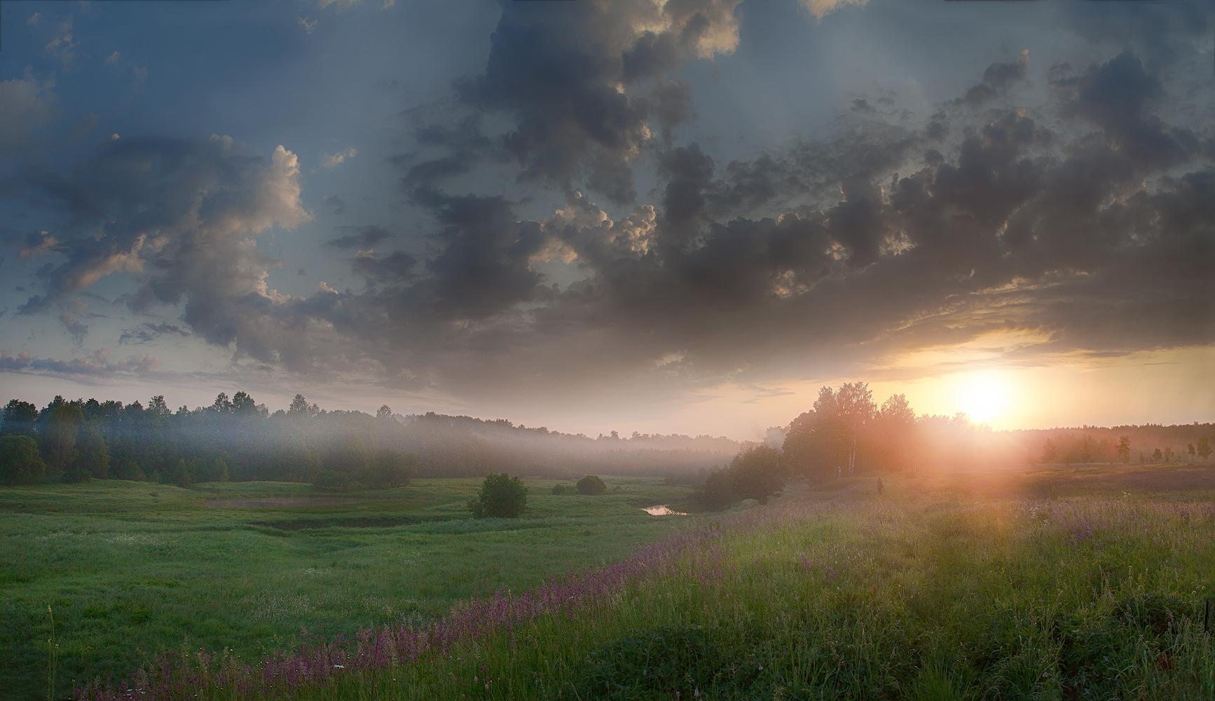 """фото """"Загорается утро...."""" метки: пейзаж,"""