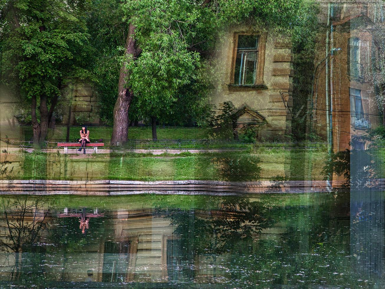 """фото """"Нереальная реальность..."""" метки: стрит-фото, фотомонтаж,"""