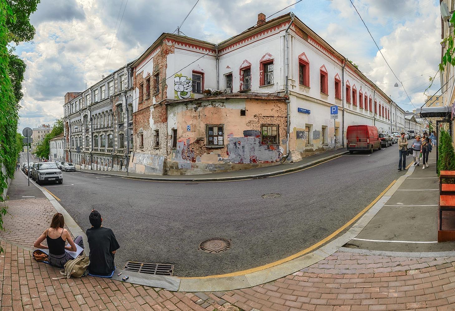"photo ""***"" tags: panoramic, Переулки Китай-города"