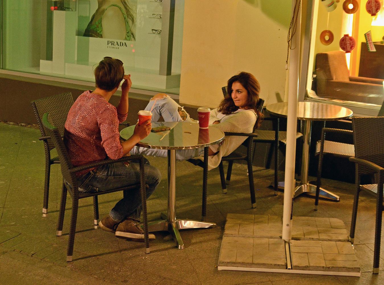 "photo ""***"" tags: street, night, street, Кофе"