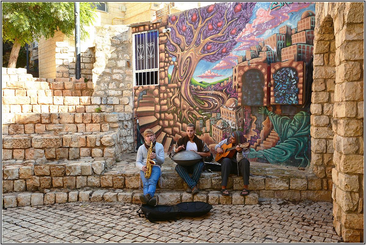 """фото """"Вечность и музыка."""" метки: жанр, Израиль, г. Цфат, клезмеры."""