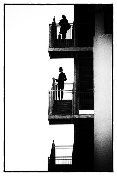 """photo """"Staircase - 2"""" tags: travel, street, black&white,"""