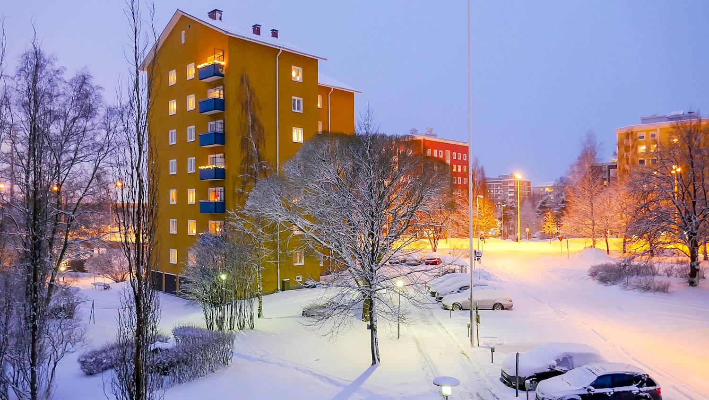 """photo """"Winter in Town"""" tags: landscape, city, winter, winterwonderland"""