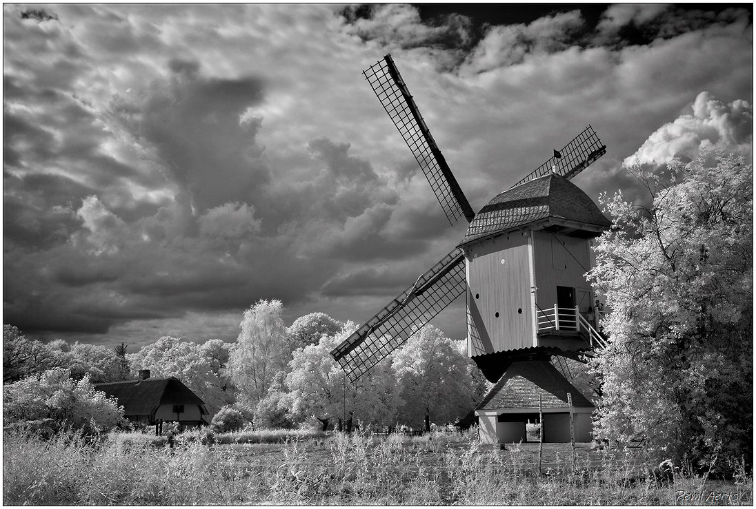"photo ""IR photo Bokrijk"" tags: landscape, architecture,"