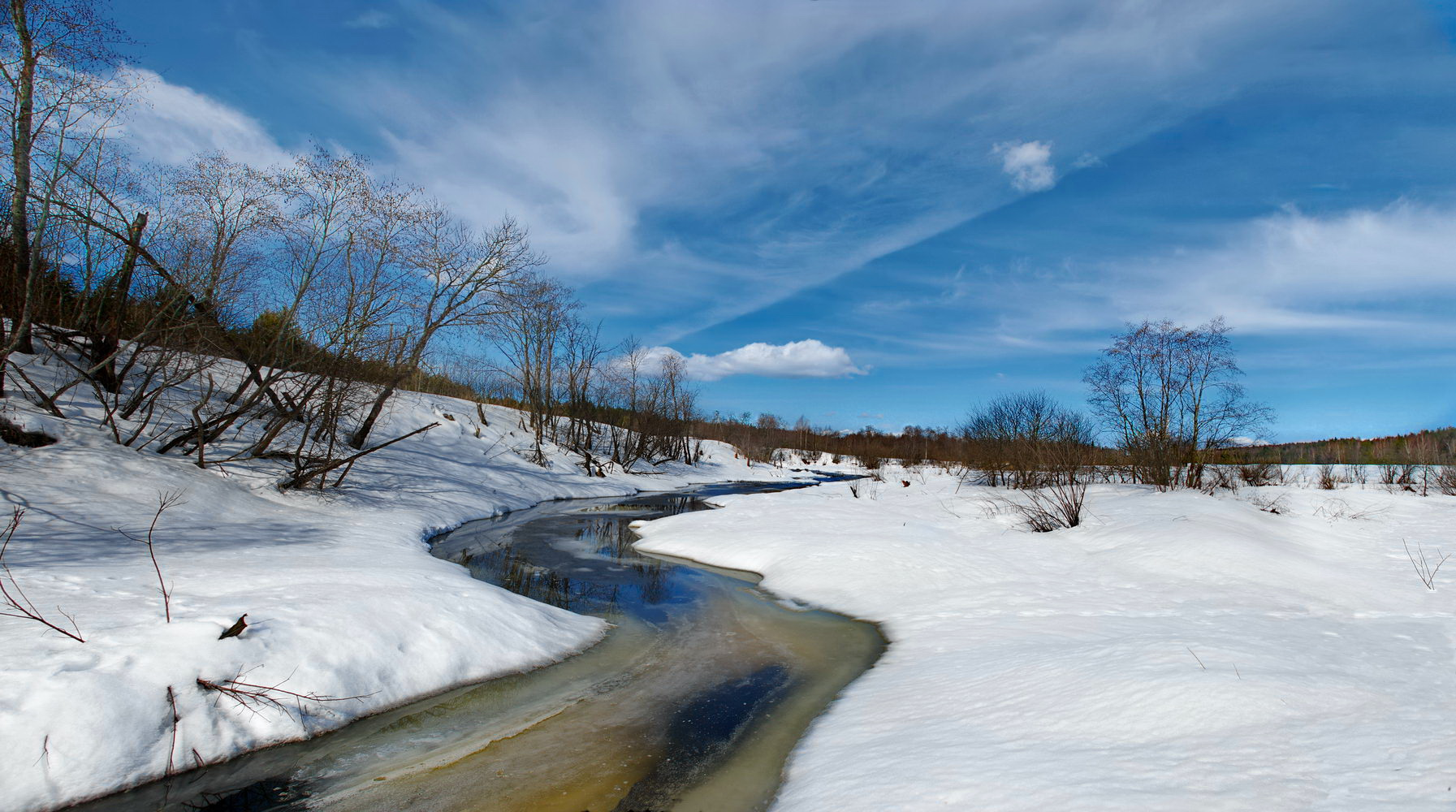"""photo """"***"""" tags: nature, landscape, snow, spring, water, лед"""