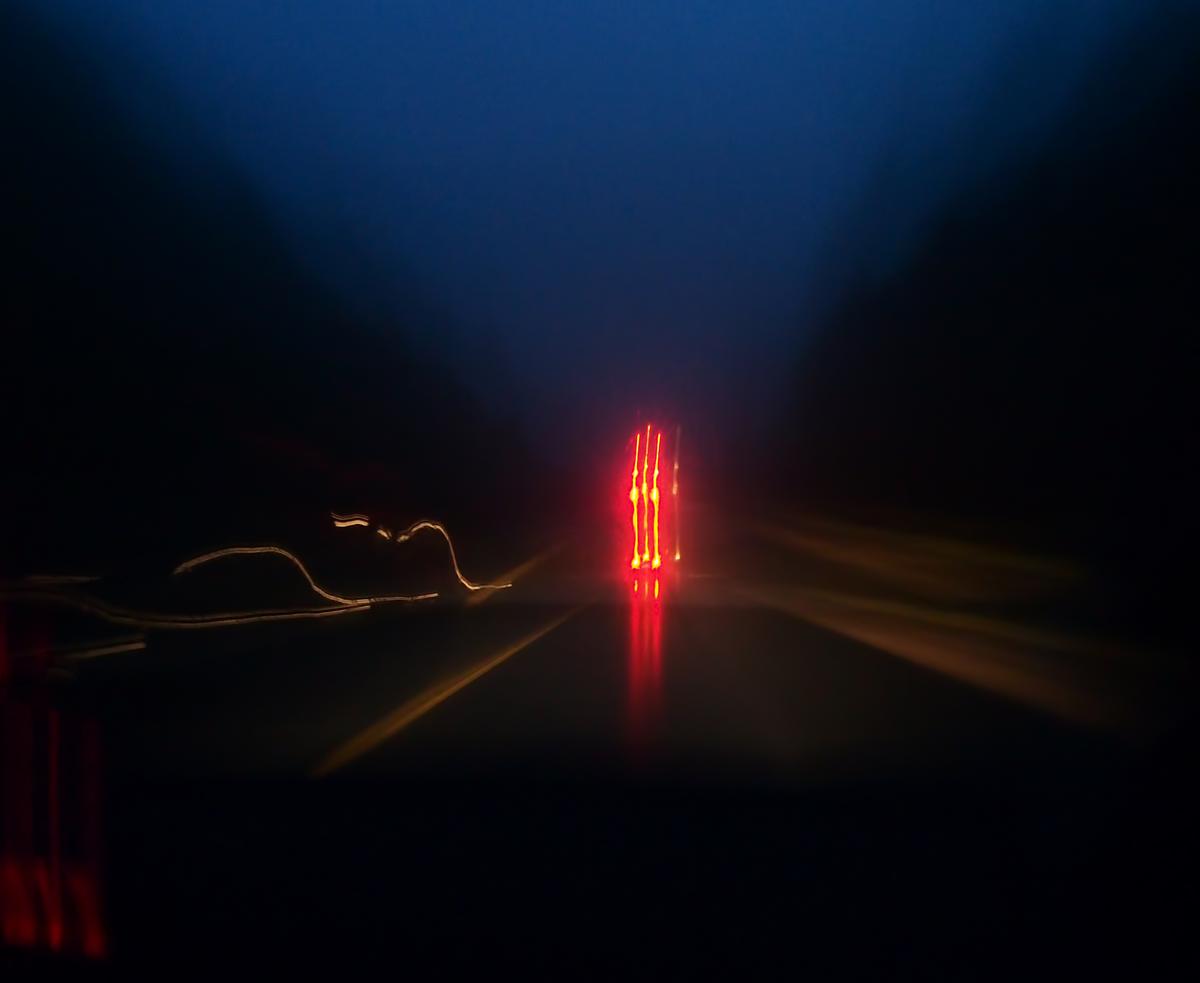 "photo ""***"" tags: abstract, night, road"
