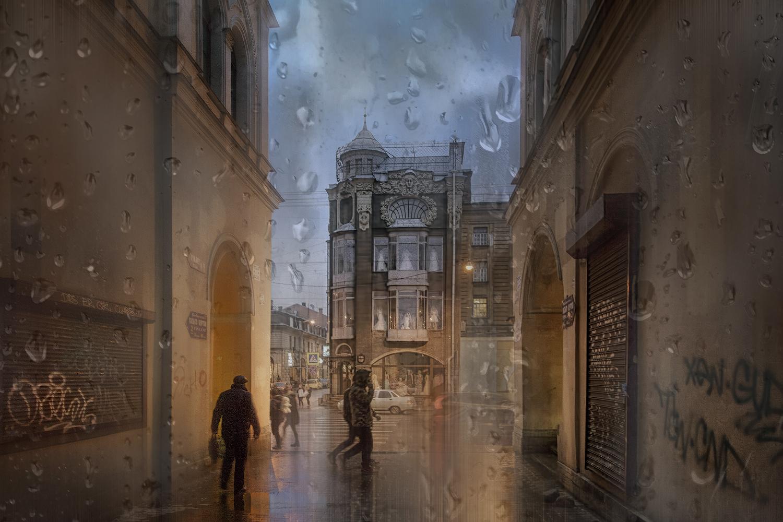 """фото """"Серые зимы, серые дни..."""" метки: стрит-фото, город, фотомонтаж,"""