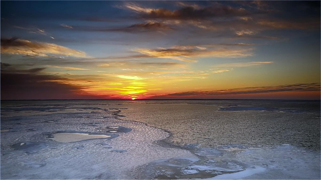 "photo ""A Cold Bay"" tags: landscape,"