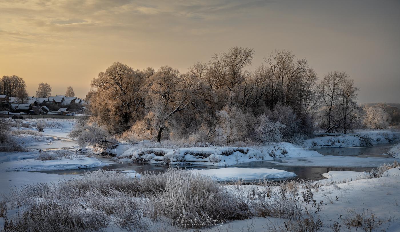 "photo ""Winter River"" tags: landscape, nature, travel,"