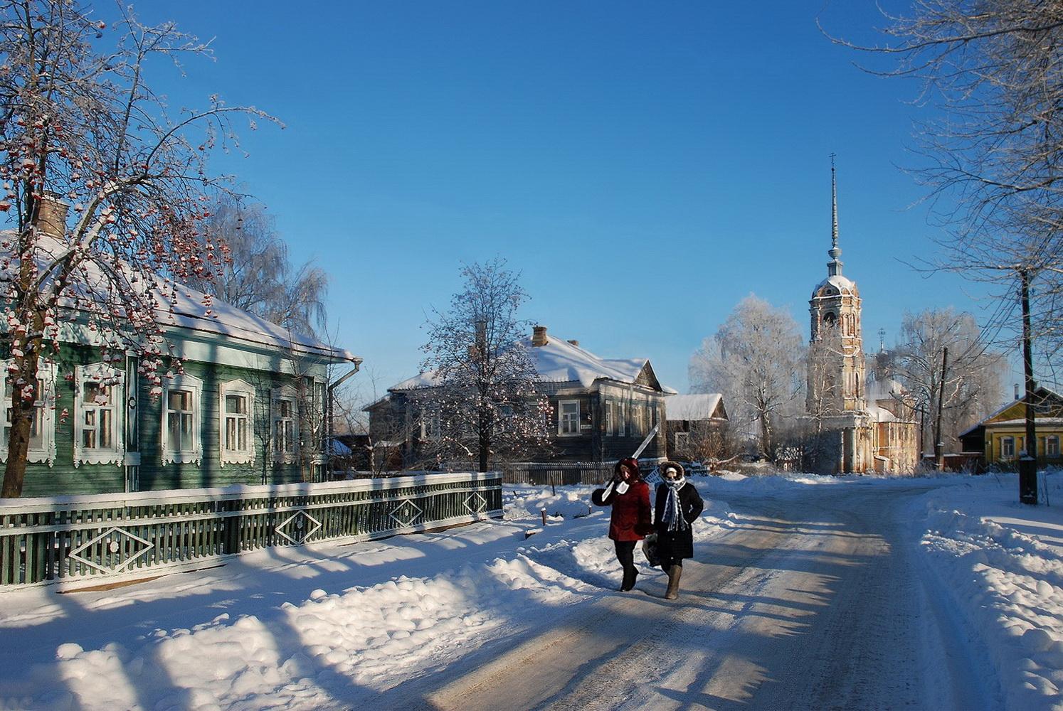 "photo ""***"" tags: nature, landscape, city, snow, winter, г. Кашин"