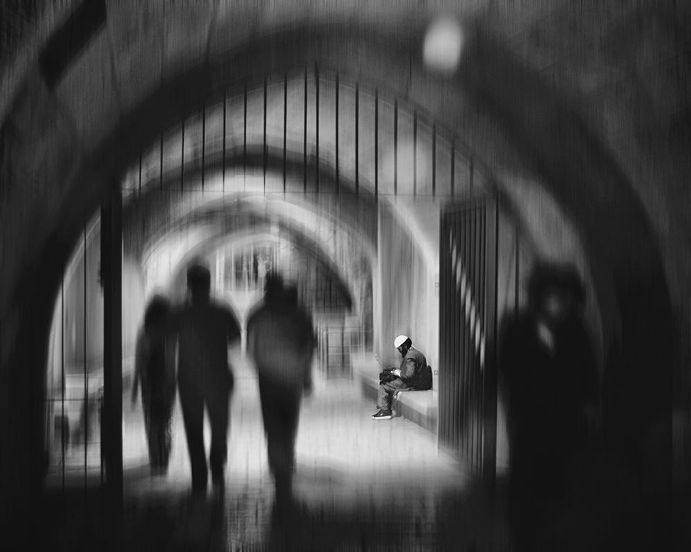 "photo ""In Jerusalem at night ..."" tags: travel, street,"