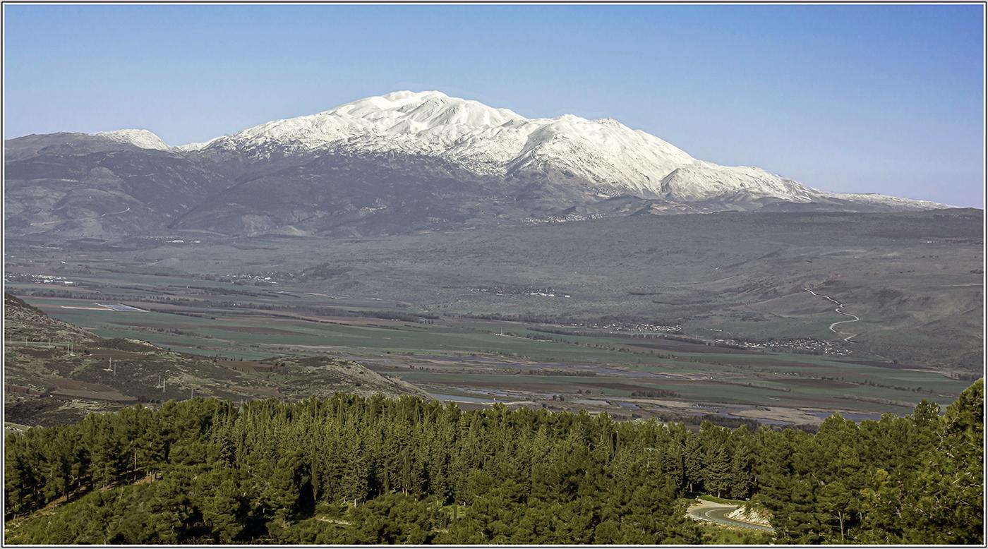 "photo ""***"" tags: landscape, travel, Israel, г Хермон, долина р.Иордан, здесь же заповедник Хула.."