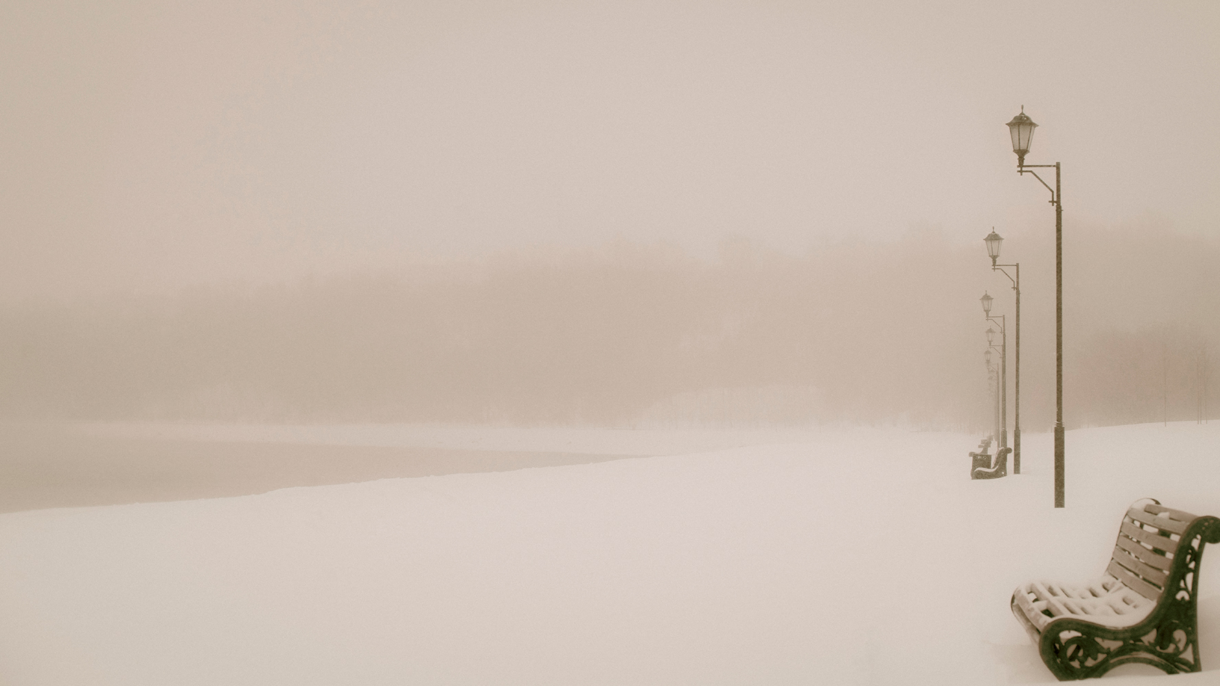 """photo """"***"""" tags: landscape, nature, old-time, forest, park, river, sky, snow, winter, ландшафт"""