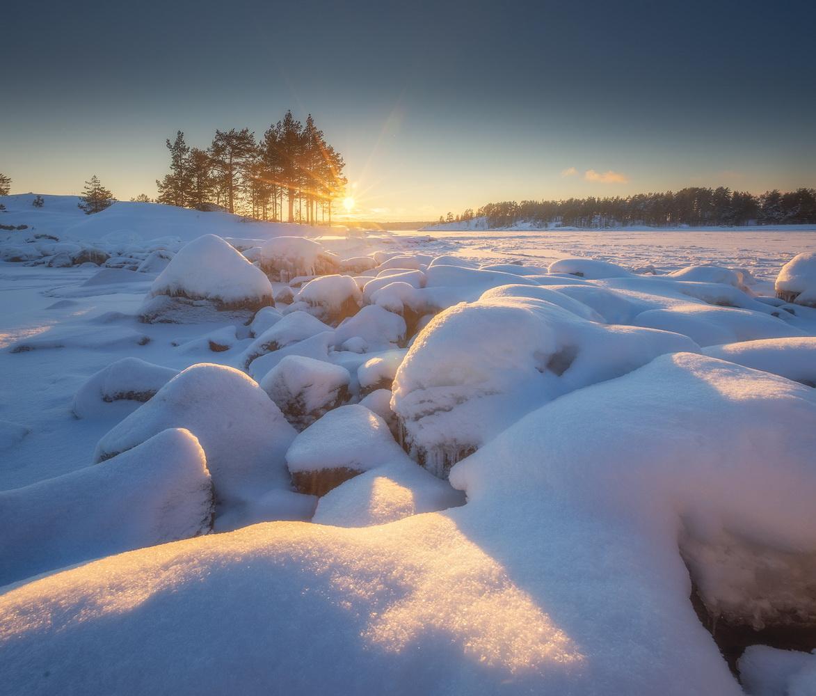 "photo ""***"" tags: landscape, nature, travel, Karelia, winter, Ладога, шхеры"