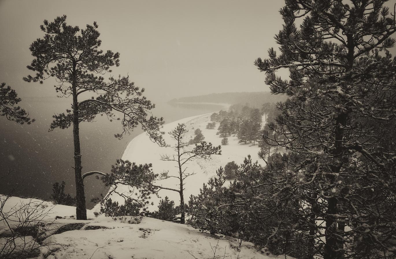 """фото """"Карельский этюд"""" метки: пейзаж, черно-белые, Карелия, зима"""