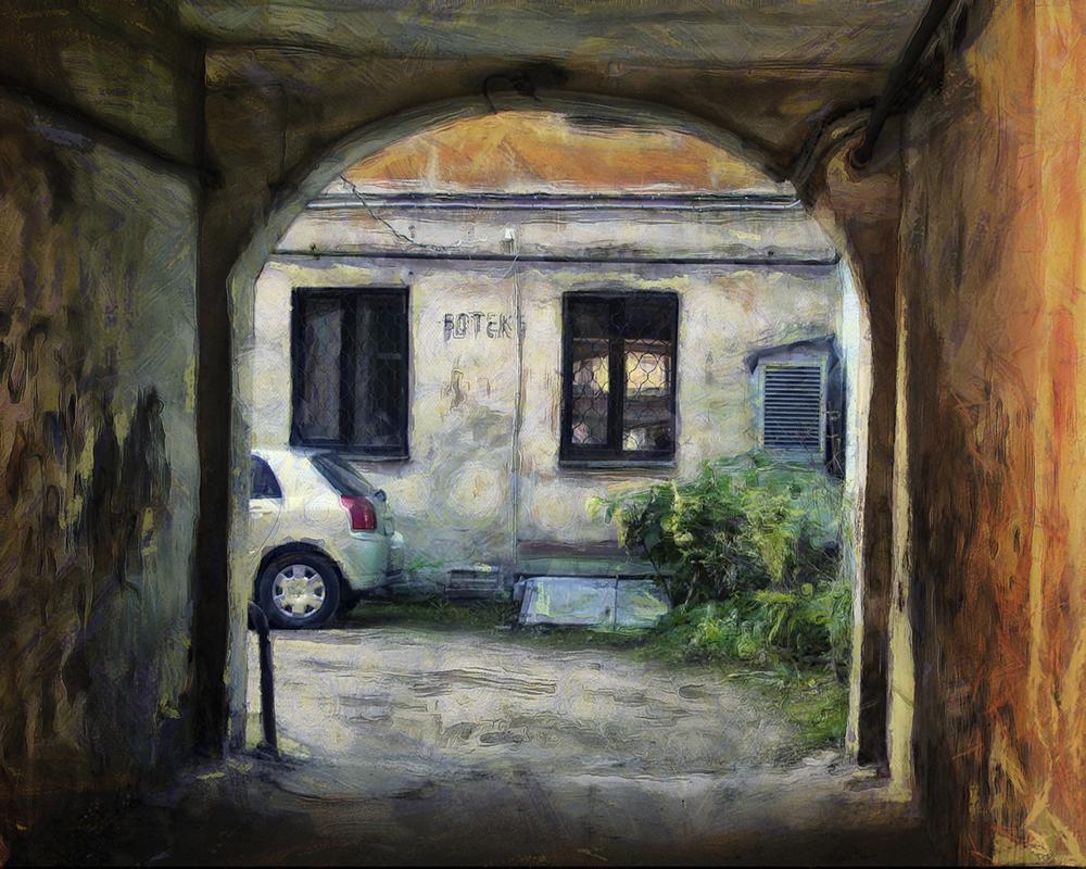 "фото ""Рижский дворик"" метки: путешествия, стрит-фото,"