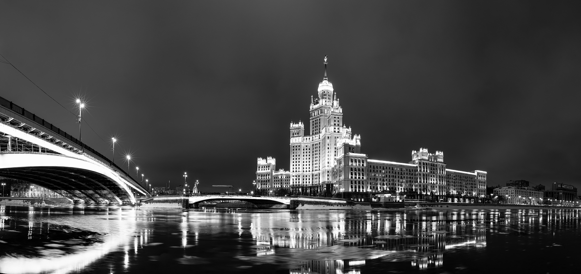 """photo """"***"""" tags: panoramic, architecture, city, Moscow, evening"""