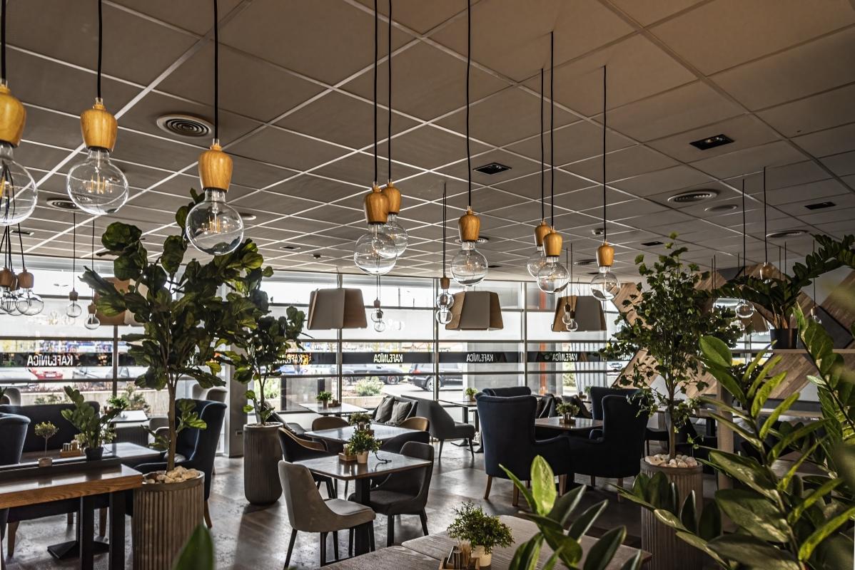 """photo """"Cafe at Coronavirus Times"""" tags: interior,"""
