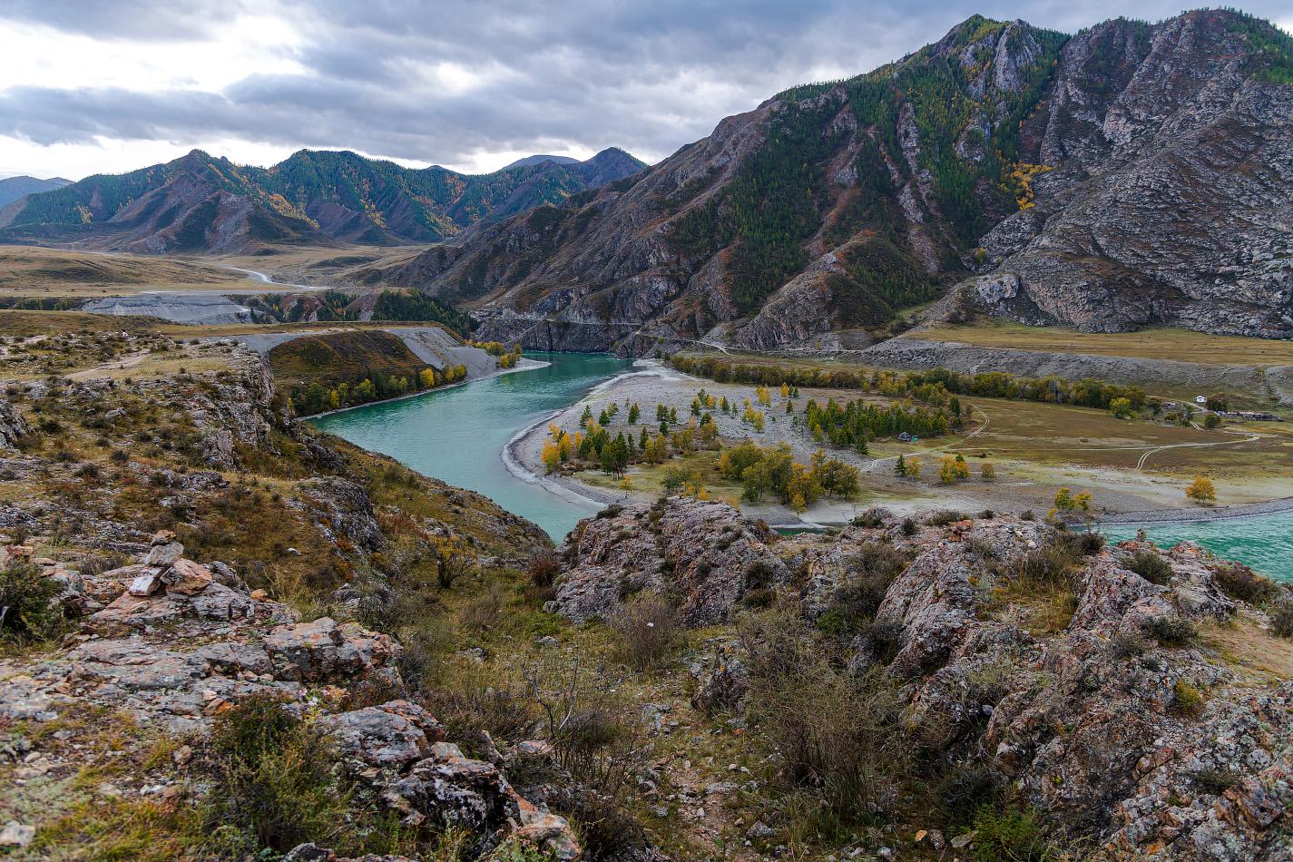 """фото """"Горный Алтай"""" метки: пейзаж, путешествия, Алтай, горы, осень, путешествие, река"""