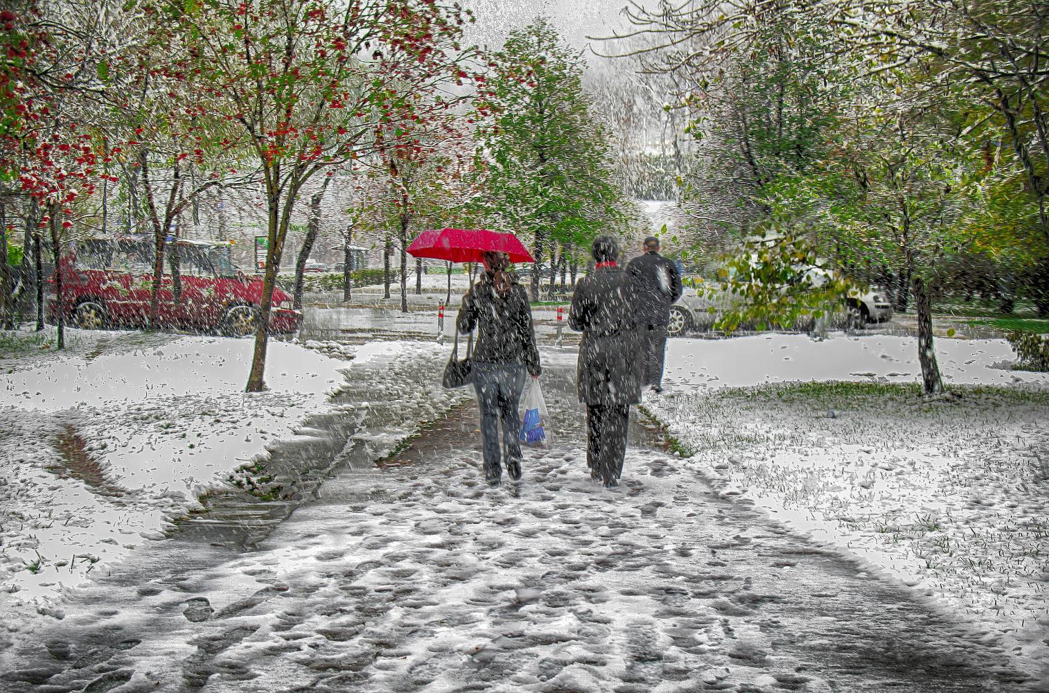 """фото """"Первый снег."""" метки: стрит-фото,"""