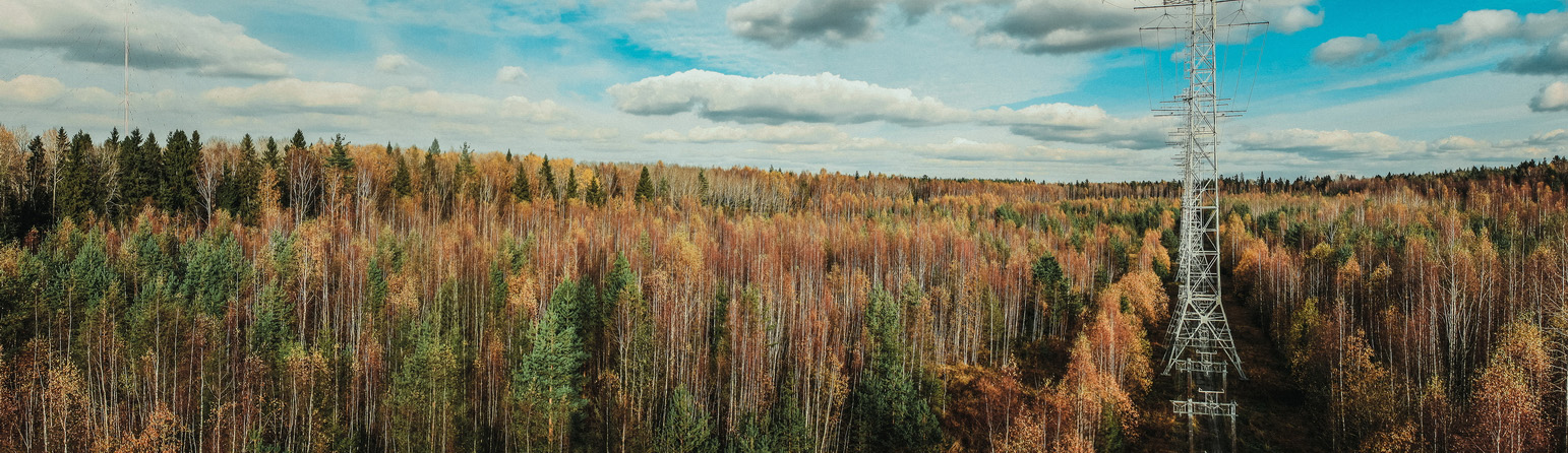 """photo """"autumn is in full swing"""" tags: landscape, panoramic, misc., autumn, clouds, sky, антенна, антенны, деревья"""